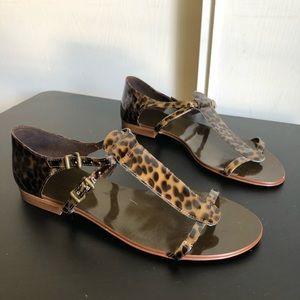 J. Crew Double Strap Cheetah Print Sandals